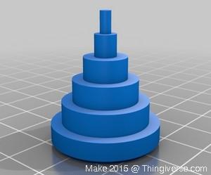 Modello test per verifica accuratezza dimensionale della stampante 3D