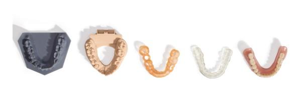 Modelli dentali stampati in 3D con resine dentali Formlabs