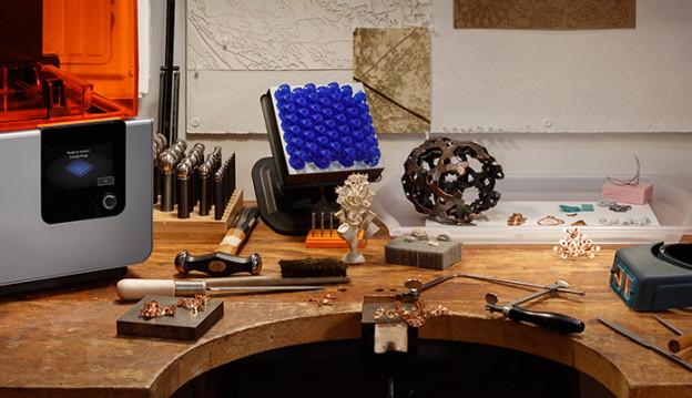 Laboratorio produzione gioielli con stampante 3D Formlabs
