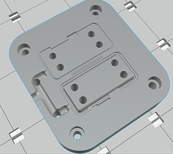 preview stampa 3d in grabcad - tassello maschio stampo iniezione