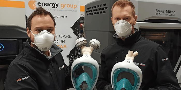 Vito e Claudio con maschera stampa 3D