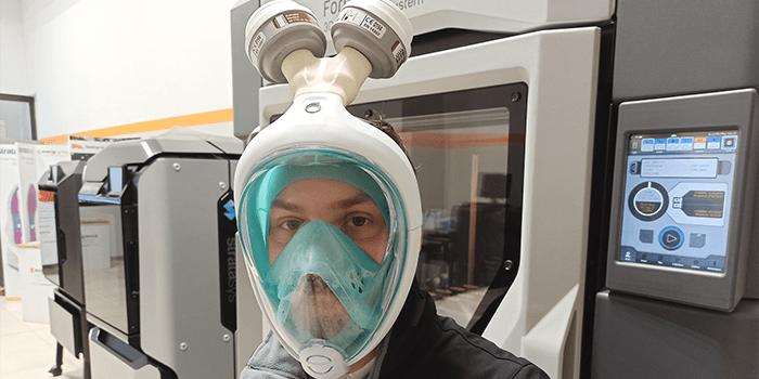 Stampa 3D di dispositivi medici per fronteggiare l'emergenza Covid-19