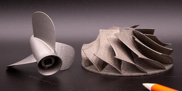 Parti in acciaio realizzate con la stampante 3D a polvere di metallo Xact Metal