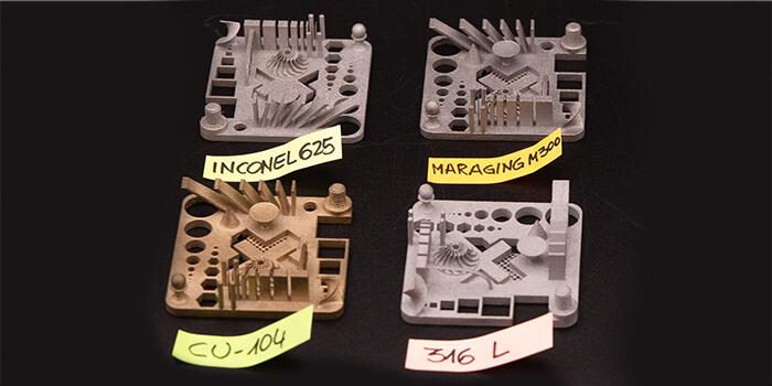 Stampante 3D a polvere di metallo: una campionatura dei materiali disponibili sulla Xact Metal