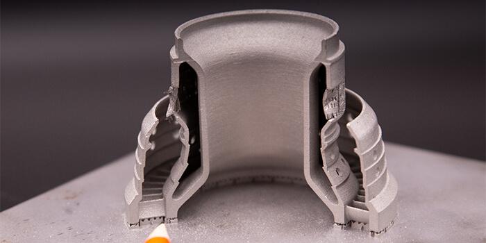 Le parti prodotte con la stampante 3D a polvere di metallo Xact Metal sono accurate fin nei minimi dettagli