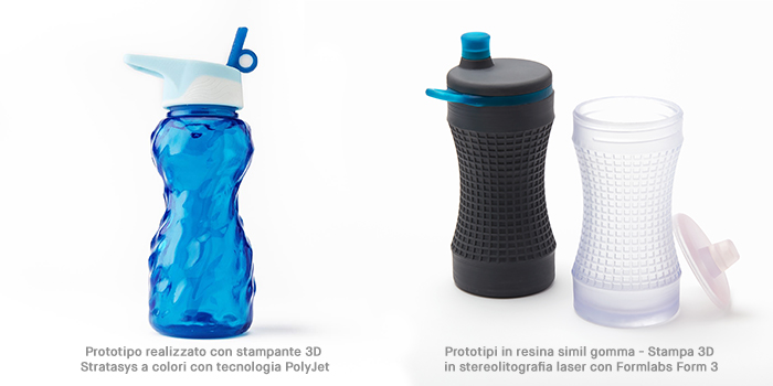 Stampa 3D per lo sport: prototipi di borracce stampati in 3D