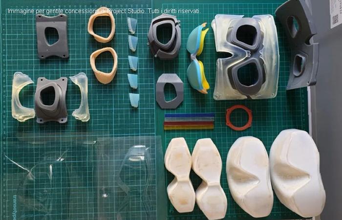 stampa 3d per lo sport: progetto occhiali piscina Project Studio - Puppo