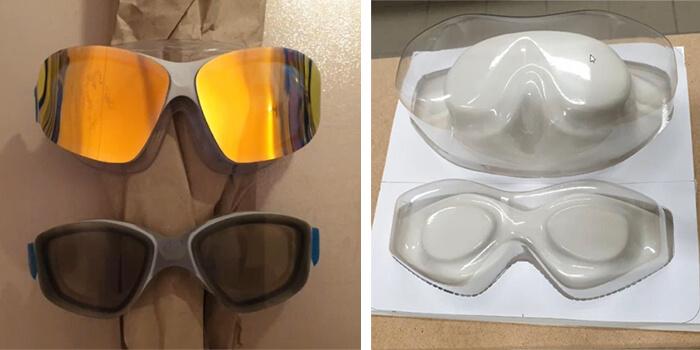 stampa 3D per lo sport: prototipo occhiali piscina e stampo termoformatura