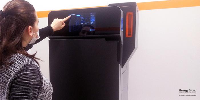 stampante 3d Fuse 1 presso Energy Group a Bologna